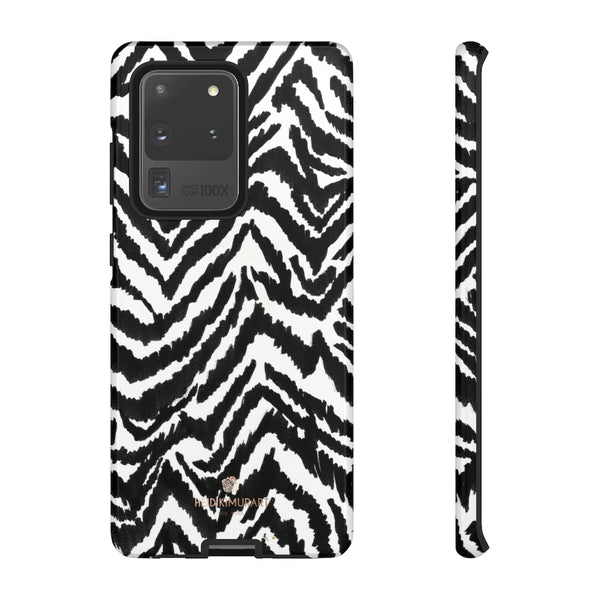 White Tiger Stripe Phone Case, Animal Print Best Tough Designer Phone Case -Made in USA-Phone Case-Printify-Samsung Galaxy S20 Ultra-Glossy-Heidi Kimura Art LLC