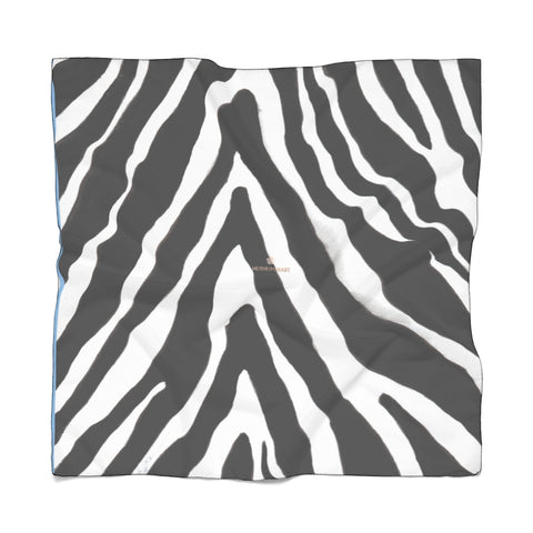 "Zebra Stripe Poly Scarf, Animal print Lightweight Premium Fashion Accessories- Made in USA-Accessories-Printify-Poly Voile-25 x 25 in-Heidi Kimura Art LLCZebra Stripe Poly Scarf, Animal Print Lightweight Delicate Sheer Poly Voile or Poly Chiffon 25""x25"" or 50""x50"" Luxury Designer Fashion Accessories- Made in USA, Fashion Sheer Soft Light Polyester Square Scarf"