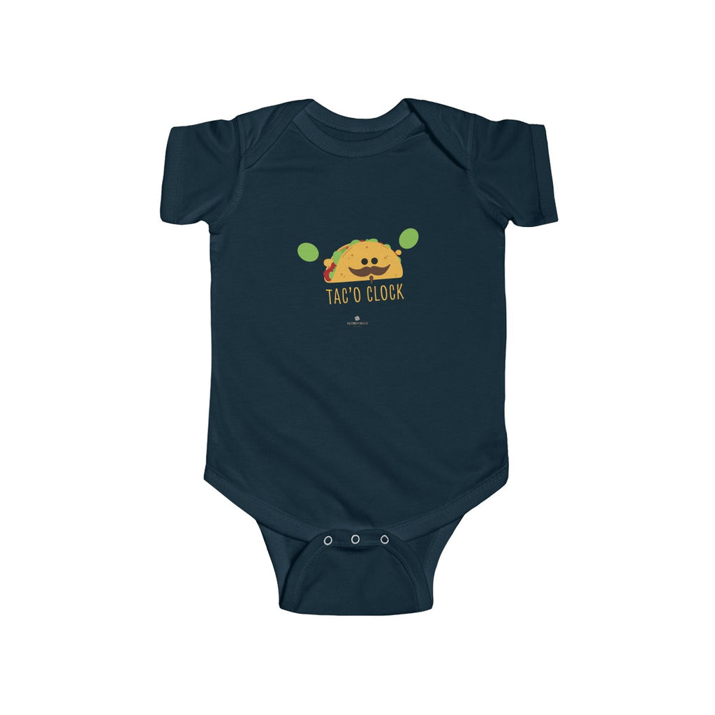 Taco Funny Infant Fine Jersey Regular Fit Unisex Cotton Cute Bodysuit Kids Clothing - Made in UK