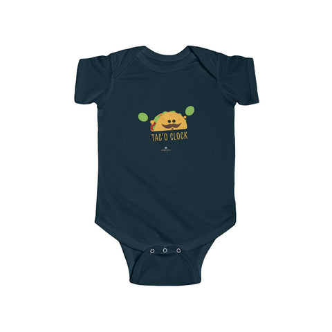 Taco Infant Fine Jersey Regular Fit Unisex Cute Cotton Bodysuit - Made in UK-Infant Short Sleeve Bodysuit-Navy-12M-Heidi Kimura Art LLC