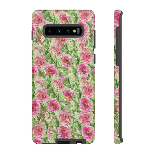 Garden Rose Phone Case, Roses Floral Print Tough Designer Phone Case -Made in USA-Phone Case-Printify-Samsung Galaxy S10 Plus-Glossy-Heidi Kimura Art LLC