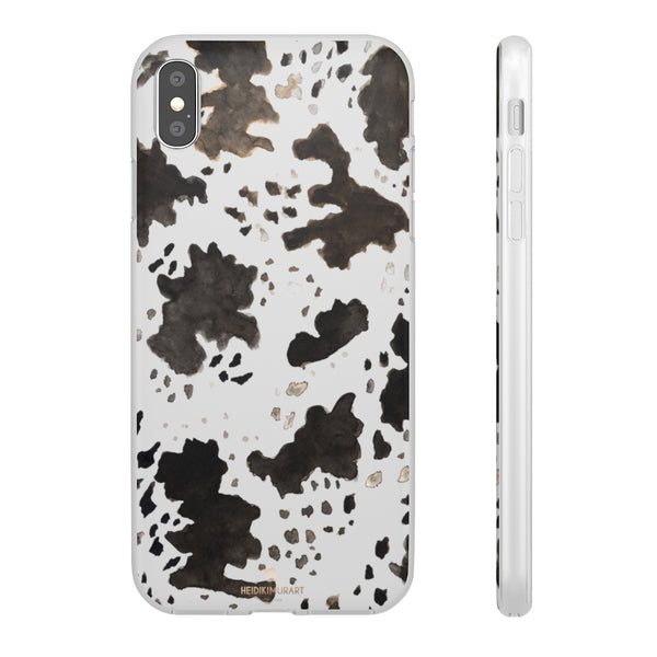 Cow Print Slim Flexible Wireless Charging Friendly iPhone Samsung Flexi Phone Cases-Phone Case-iPhone XS MAX-Heidi Kimura Art LLC
