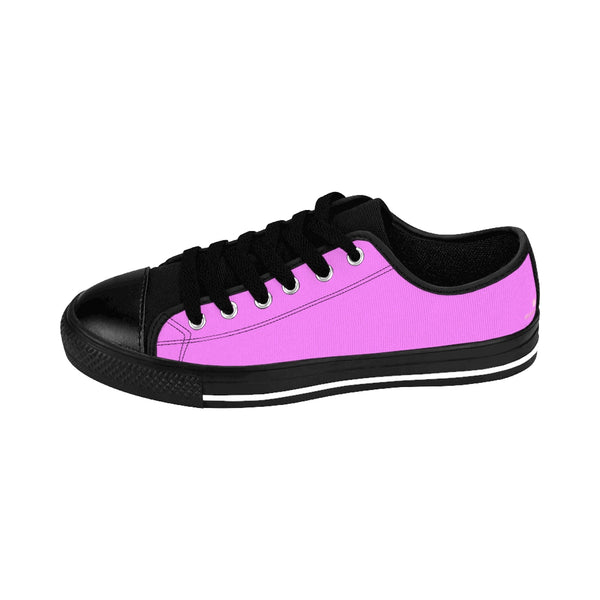 Pink Cotton Candy Solid Color Designer Low Top Women's Sneakers (US Size: 6-12)-Women's Low Top Sneakers-Heidi Kimura Art LLC