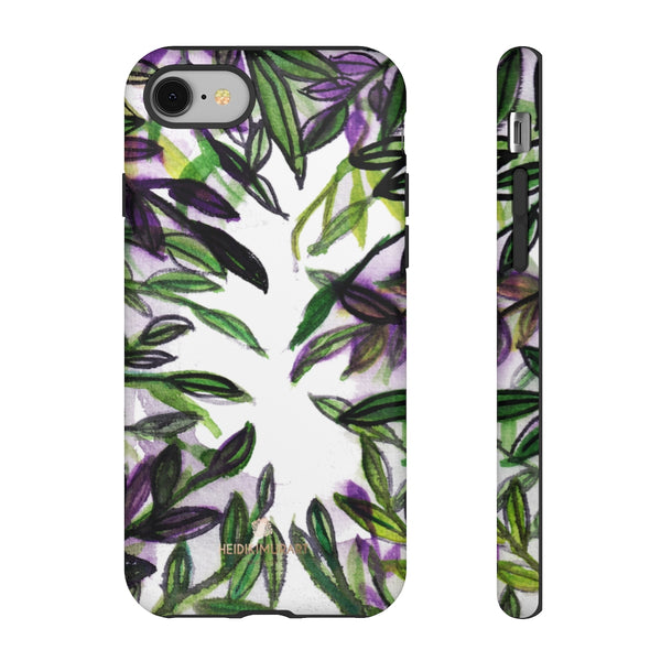 Tropical Leave Print Tough Cases, Designer Phone Case-Made in USA-Phone Case-Printify-iPhone 8-Matte-Heidi Kimura Art LLC