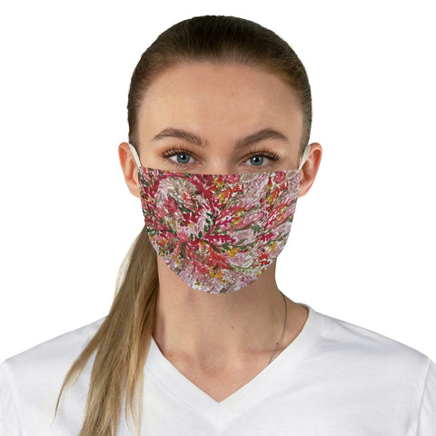 "Red Fall Floral Face Mask, Adult Flower Print Modern Fabric Face Mask-Made in USA-Accessories-Printify-One size-Heidi Kimura Art LLC Red Fall Floral Face Mask, Autumn Leaves Designer Fashion Face Mask For Men/ Women, Designer Premium Quality Modern Polyester Fashion 7.25"" x 4.63"" Fabric Non-Medical Reusable Washable Chic One-Size Face Mask With 2 Layers For Adults With Elastic Loops-Made in USA"