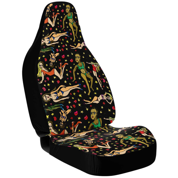 Bad Girls Cat Seat Covers, 2 Pack - Heidikimurart Limited