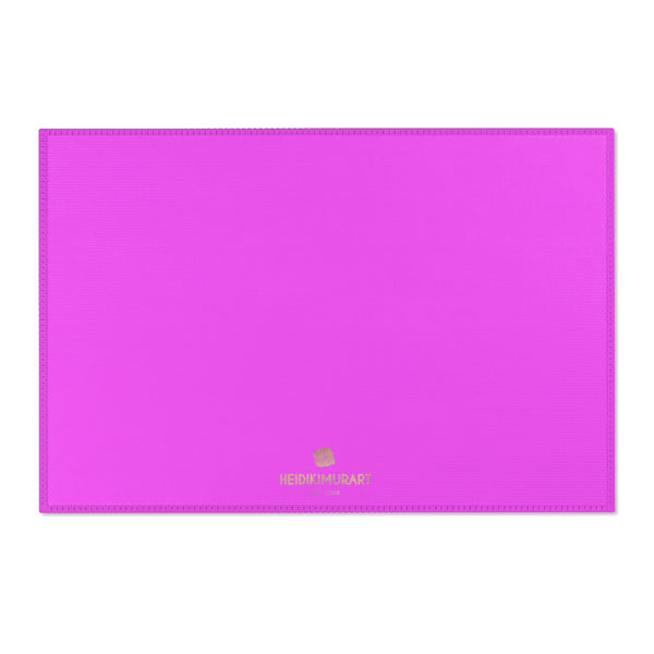 "Hot Pink Solid Color Designer 24x36, 36x60, 48x72 inches Area Rugs- Printed in the USA-Area Rug-36"" x 24""-Heidi Kimura Art LLC"