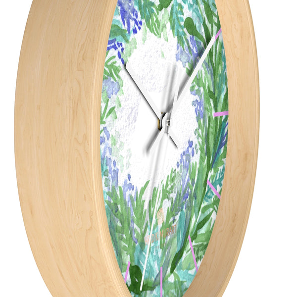 Violet Purple Pastel Color French Lavender 10 in. Dia. Indoor Wall Clock- Made in USA-Wall Clock-Heidi Kimura Art LLC