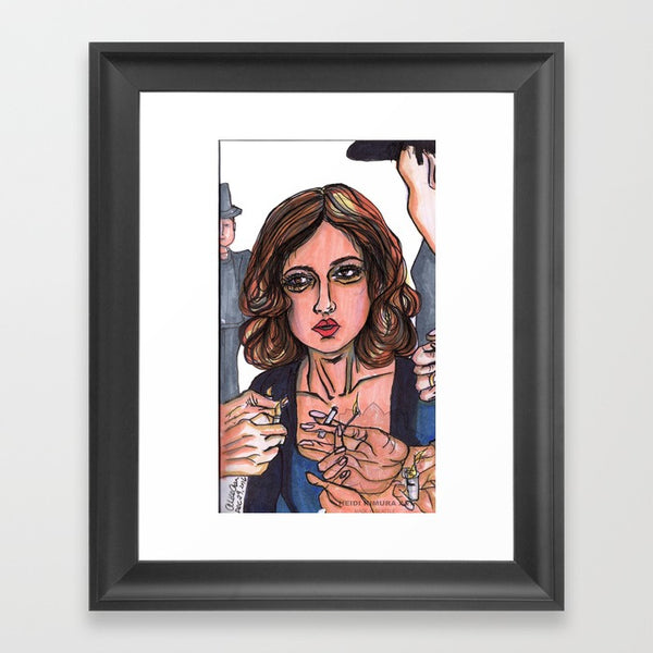 A Milano Lady In Distress Fashion Illustration Woman Portrait Art Print - Made in USA