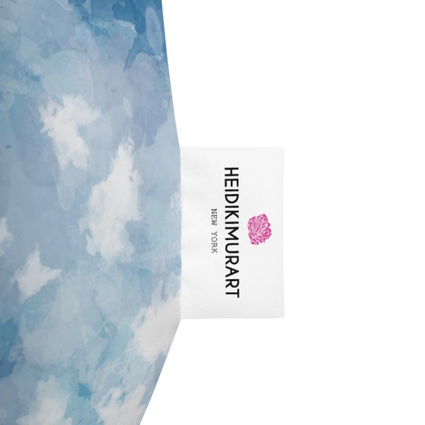 Designer Watercolor Sky Blue Abstract Print Water Resistant Bean Sofa Bag Chair-Bean Bag-Heidi Kimura Art LLC