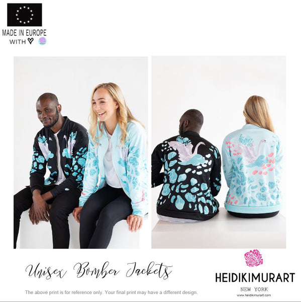 Tiger Stripe Bomber Jacket, Wild Animal Print Unisex Jacket For Men or Women-Made in EU-Unisex Bomber Jacket-Printful-Heidi Kimura Art LLC