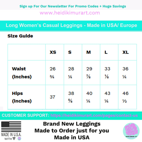 Green Women's Casual Leggings, Best Solid Green Color Long Fashion Tights -Made in USA/EU/MX - Heidikimurart Limited