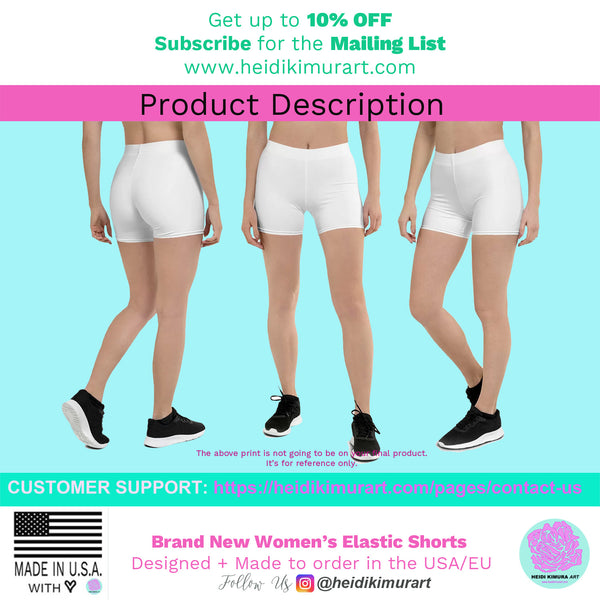 Pastel Purple Women's Shorts, Solid Color Premium Quality Short Tights-Made in USA/EU