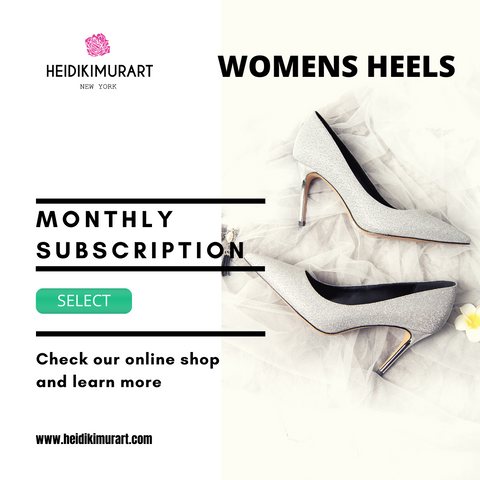 Monthly Subscription Designer 4 inch Platform High Heels For Heel Addicts Package For Our Special VIP Customers (3-month, 6-month, 1-year, 2-year, 3-year plans are available)