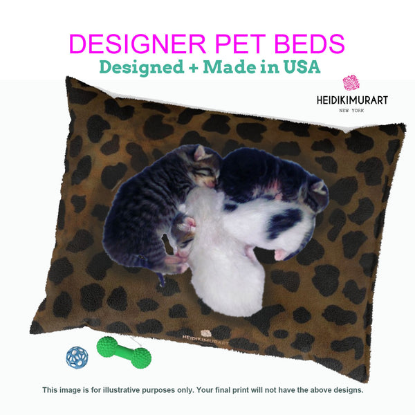 Orange Pet Bed, Solid Color Machine-Washable Pet Pillow With Zippers-Printed in USA-Pet Bed-Printify-MWW on Demand-Heidi Kimura Art LLC