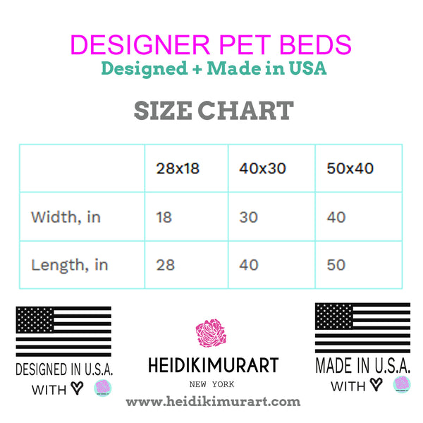 Red Luxury Pet Bed, Solid Color Machine-Washable Pet Pillow With Zippers-Printed in USA-Pet Bed-Printify-MWW on Demand-Heidi Kimura Art LLC