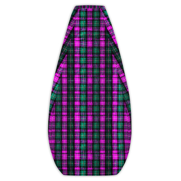 Classic Pink Green Plaid Tartan Print Water Resistant Polyester Bean Sofa Bag-Bean Bag-Bean Bag Cover Only-Heidi Kimura Art LLC