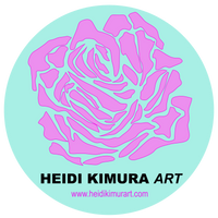 Niou Pink Rose Designer Best Floral Women's Ideal Racerback Tank - Made in the U.S.A. - Heidi Kimura Art LLC