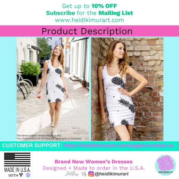Black Rainbow Cute Polka Dots Women's Designer Dress-Made in USA(US Size: XS-XL)-Women's Sleeveless Dress-Heidi Kimura Art LLC