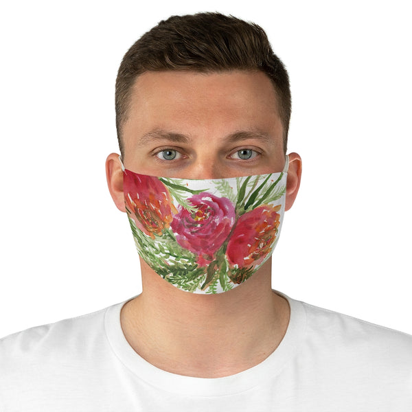 "Cute Red Rose Face Mask, Adult Modern Flower Print Fabric Face Mask-Made in USA-Accessories-Printify-One size-Heidi Kimura Art LLCCute Red Rose Face Mask, Adult Modern Flower Roses Print Face Mask, Fashion Face Mask For Men/ Women, Designer Premium Quality Modern Polyester Fashion 7.25"" x 4.63"" Fabric Non-Medical Reusable Washable Chic One-Size Face Mask With 2 Layers For Adults With Elastic Loops-Made in USA"