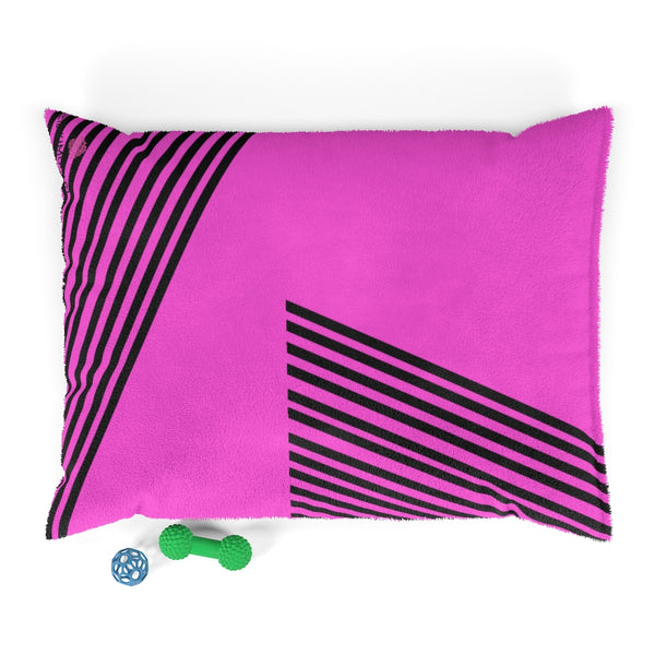 Pink Striped Pet Bed - Heidikimurart Limited