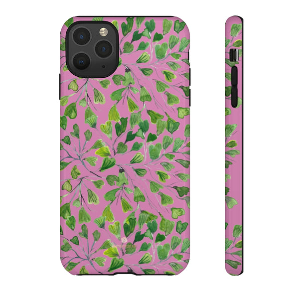 Blue Maidenhair Fern Tough Cases, Green Leaf Print Phone Case-Made in USA-Phone Case-Printify-iPhone 11 Pro Max-Glossy-Heidi Kimura Art LLC