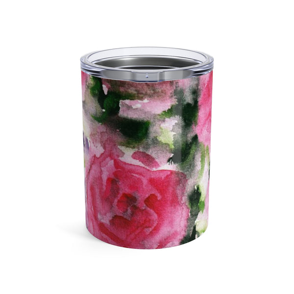 Chikako Smart Child Pink Rose Floral Tumbler 10oz - Heidi Kimura Art LLC