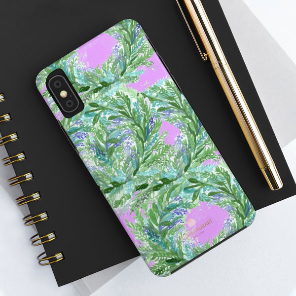Pink Purple Lavender Floral Print Designer Case Mate Tough Phone Cases-Made in USA - Heidikimurart Limited