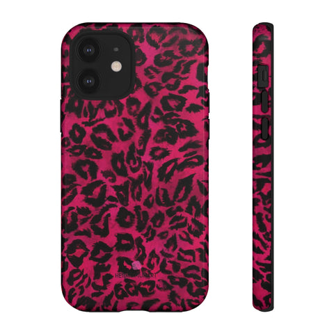 Pink Leopard Designer Tough Cases, Animal Print Designer Case Mate Best Tough Phone Case For iPhones and Samsung Galaxy Devices-Made in USA