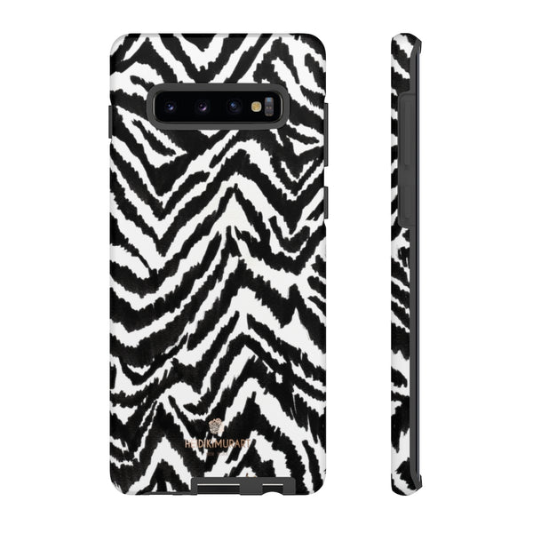 White Tiger Stripe Phone Case, Animal Print Best Tough Designer Phone Case -Made in USA-Phone Case-Printify-Samsung Galaxy S10 Plus-Matte-Heidi Kimura Art LLC