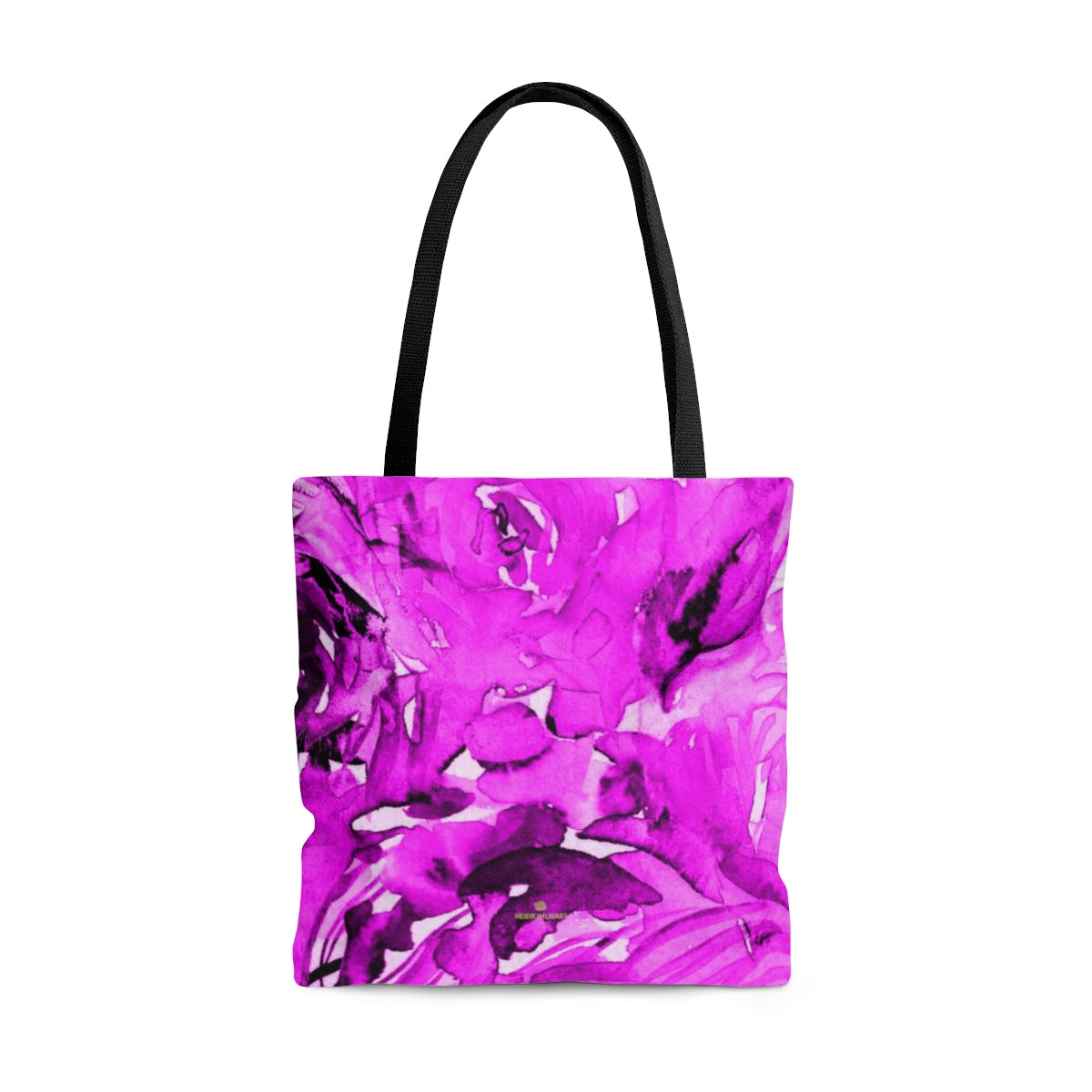 Shocking Pink Rose Flower Floral Designer Small Medium Large Tote Bag - Made in USA-Bags-Large-Heidi Kimura Art LLC