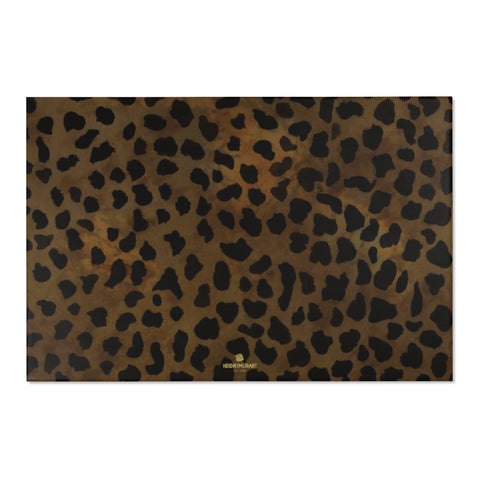 "Brown Cheetah Animal Print Designer 24x36, 36x60, 48x72 inches Area Rugs - Printed in USA-Area Rug-72"" x 48""-Heidi Kimura Art LLC"