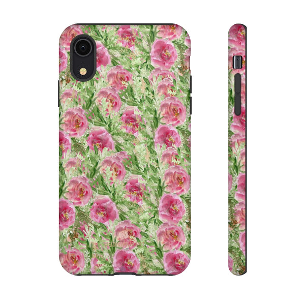 Garden Rose Phone Case, Roses Floral Print Tough Designer Phone Case -Made in USA-Phone Case-Printify-iPhone XR-Glossy-Heidi Kimura Art LLC