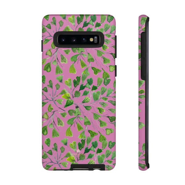 Blue Maidenhair Fern Tough Cases, Green Leaf Print Phone Case-Made in USA-Phone Case-Printify-Samsung Galaxy S10-Matte-Heidi Kimura Art LLC