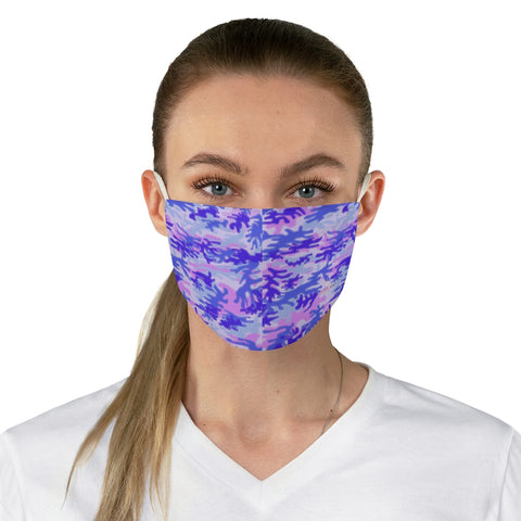 "Pink Purple Camouflage Face Mask, Adult Military Style Modern Fabric Face Mask-Made in USA-Accessories-Printify-One size-Heidi Kimura Art LLC Pink Purple Camouflage Face Mask, Adult Camo Army Military Style Print Face Mask, Fashion Face Mask For Men/ Women, Designer Premium Quality Modern Polyester Fashion 7.25"" x 4.63"" Fabric Non-Medical Reusable Washable Chic One-Size Face Mask With 2 Layers For Adults With Elastic Loops-Made in USA"
