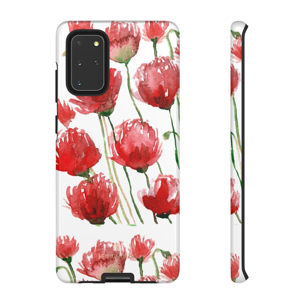 Red Tulips Floral Tough Cases, Roses Flower Print Best Designer Phone Case-Made in USA-Phone Case-Printify-Samsung Galaxy S20+-Glossy-Heidi Kimura Art LLC