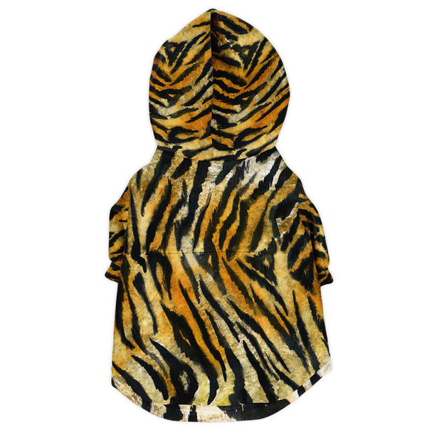 Tiger Stripe Print Dog Hoodie, Soft Comfortable Zip-Up Premium Hoodie For Dog Pet Owners-Athletic Dog Zip-Up Hoodie - AOP-Subliminator-Heidi Kimura Art LLC Tiger Stripe Print Dog Hoodie, Animal Print Soft Comfortable Zip-Up Premium Fashion Hoodie For Dog Pet Owners, For Tiny Small Dogs to Medium/ Large Size Dogs (Size: XXS-2XL)