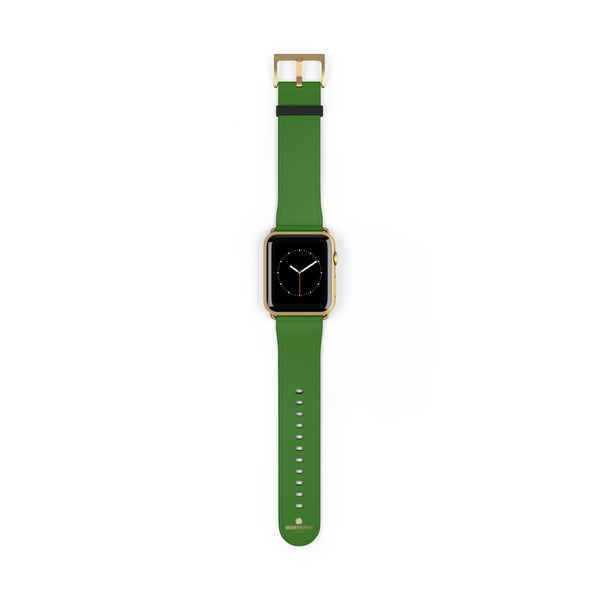 Emerald Green Solid Color 38mm/42mm Watch Band For Apple Watches- Made in USA-Watch Band-Heidi Kimura Art LLC
