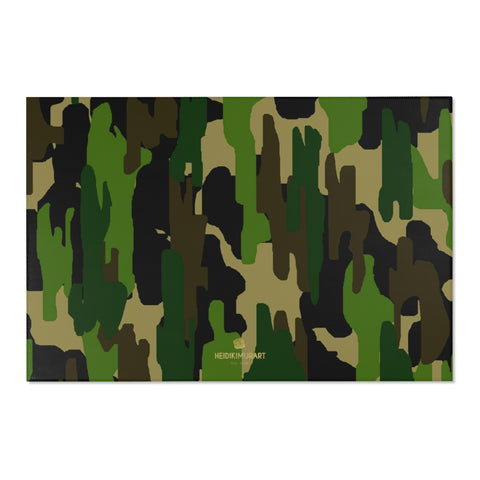 "Camouflage Military Army Print Designer 24x36, 36x60, 48x72 inches Area Rugs - Printed in USA-Area Rug-72"" x 48""-Heidi Kimura Art LLC"