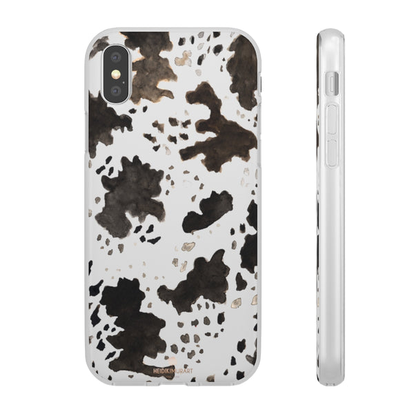 Cow Print Slim Flexible Wireless Charging Friendly iPhone Samsung Flexi Phone Cases-Phone Case-iPhone X-Heidi Kimura Art LLC