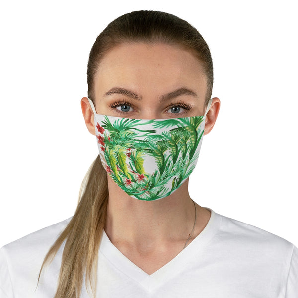 "Floral Leaf Print Face Mask, Adult Designer Premium Fabric Face Mask-Made in USA-Accessories-Printify-One size-Heidi Kimura Art LLC Floral Leaf Print Face Mask, Flower Designer Fashion Face Mask For Men/ Women, Designer Premium Quality Modern Polyester Fashion 7.25"" x 4.63"" Fabric Non-Medical Reusable Washable Chic One-Size Face Mask With 2 Layers For Adults With Elastic Loops-Made in USA"