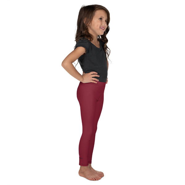 Red Solid Color Kid's Leggings, Red Solid Color Print Designer Kid's Girl's Leggings Active Wear 38-40 UPF Fitness Workout Gym Wear Running Tights, Comfy Stretchy Pants (2T-7) Made in USA/EU/MX, Girls' Leggings & Pants, Leggings For Girls, Designer Girls Leggings Tights, Leggings For Girl Child