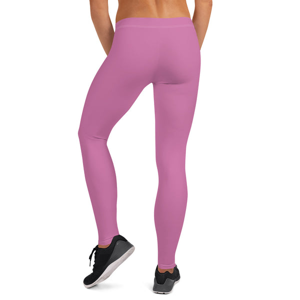 Pink Solid Color Casual Leggings-Heidikimurart Limited -Heidi Kimura Art LLC Pink Solid Color Casual Leggings, Best Hot Pink Solid Color Fashion Fancy Women's Long Dressy Casual Fashion Leggings/ Running Tights - Made in USA/ EU/ MX (US Size: XS-XL)