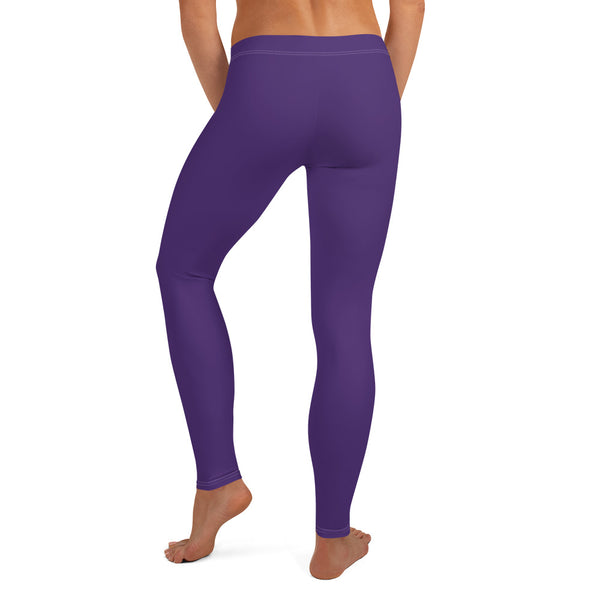 Dark Purple Women's Casual Leggings-Heidikimurart Limited -Heidi Kimura Art LLC Dark Purple Women's Casual Leggings, Solid Color Fashion Fancy Women's Long Dressy Casual Fashion Leggings/ Running Tights - Made in USA/ EU/ MX (US Size: XS-XL) Dark Purple Women's Casual Leggings, Solid Color Fashion Fancy Women's Long Dressy Casual Fashion Leggings/ Running Tights - Made in USA/ EU/ MX (US Size: XS-XL)