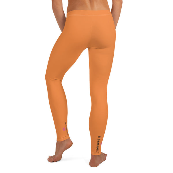 Women's Casual Orange Leggings - Heidikimurart Limited