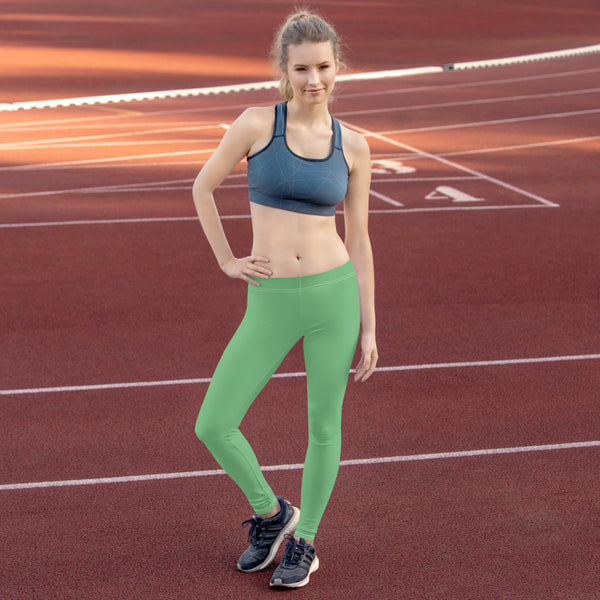 Green Women's Casual Leggings, Best Solid Green Color Fashion Fancy Women's Long Dressy Casual Fashion Leggings/ Running Tights - Made in USA/ EU/ MX (US Size: XS-XL) Green Women's Casual Leggings, Best Solid Green Color Fashion Fancy Women's Long Dressy Casual Fashion Leggings/ Running Tights - Made in USA/ EU/ MX (US Size: XS-XL)