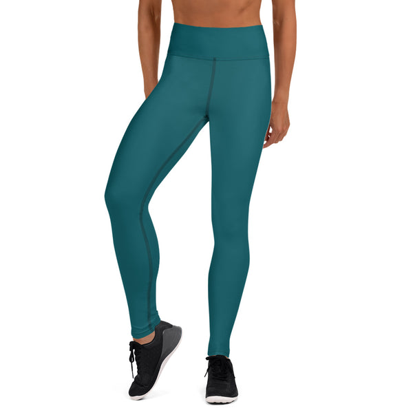 Dark Teal Green Women's Pants-Heidikimurart Limited -XS-Heidi Kimura Art LLC