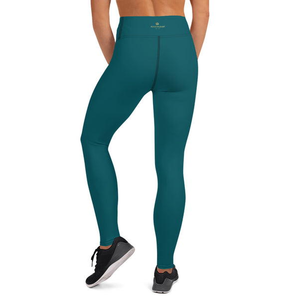 Dark Teal Green Women's Pants-Heidikimurart Limited -Heidi Kimura Art LLC