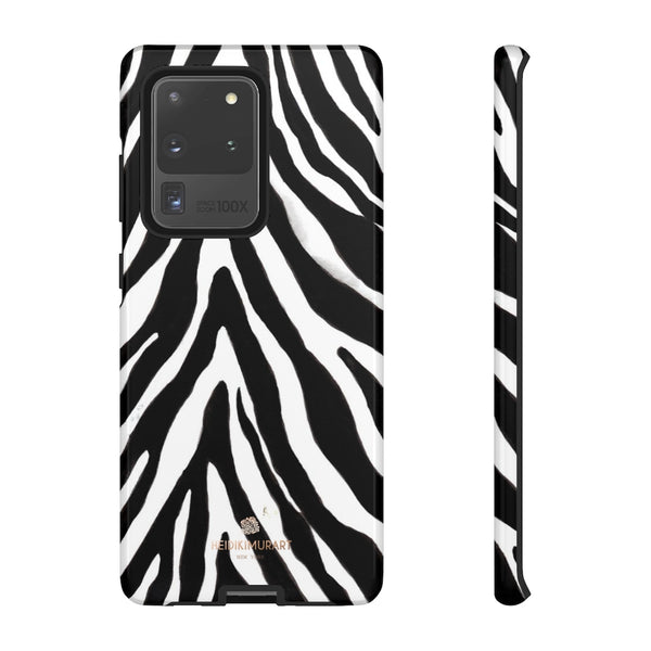 Zebra Stripe Phone Case, Animal Print Tough Designer Phone Case -Made in USA-Phone Case-Printify-Samsung Galaxy S20 Ultra-Glossy-Heidi Kimura Art LLC