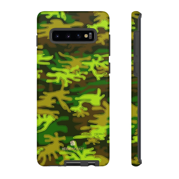 Green Camouflage Phone Case, Army Military Print Tough Designer Phone Case -Made in USA-Phone Case-Printify-Samsung Galaxy S10 Plus-Glossy-Heidi Kimura Art LLC